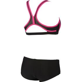 arena Hypnos Two-Pieces Swimsuit Women black-fresia rose-plum